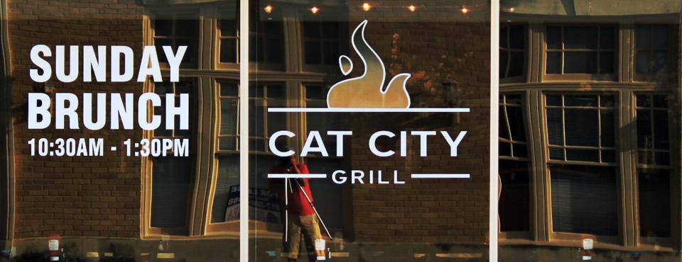 Cat City Grill Logo Design